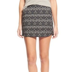 Lush Print A-Line Miniskirt